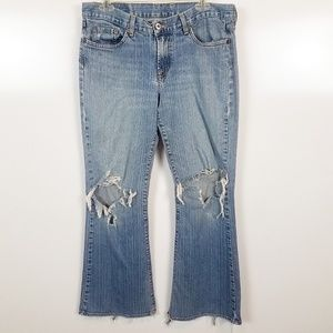 Sz 14/32 Lucky Jean's Very Distressed Some Stains